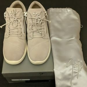 Giuseppe Zanotti crystal suede sneakers